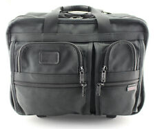 TUMI 'Alpha' Black Nylon Deluxe 2-Wheeled Carry-On Briefcase - 2207D3