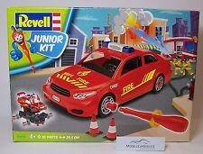 Revell Junior Kit 1/20: 00810 Pompieri Auto Guida Utilizzo / Fire Capo Car