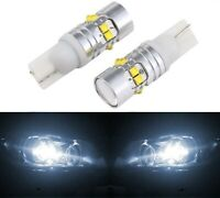LED Light 50W 194 White 5000K Two Bulbs Front Side Marker Parking Replace Fit