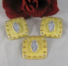 & Earrings Set Cat Rescue Don-Lin Vintage Gold tone Rhinestone Pendant