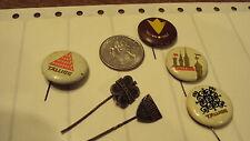 Pin back - Tallinn Estonia - vintage Hat Lapel stick button lot