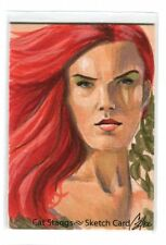 Poison Ivy Card Art - Signed art by Cat Staggs