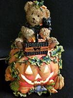 Halloween Electric Lighted Jack-o-Lantern Pumpkin Ghost Teddy Bear Black Cat