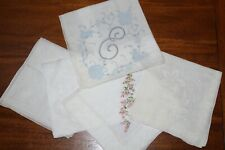 Set of 5 Various Styles and Sizes Vintage Handkerchiefs
