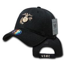 Black United States US Marines Corps USMC Marine Military Mesh Baseball Cap Hat