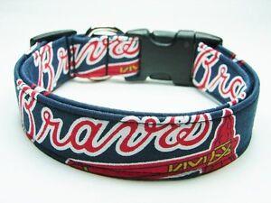 Charming Atlanta Braves MLB Baseball Dog Collar