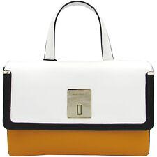 Baldinini Made in Italy luxury fashion orange white black leather Bag $550