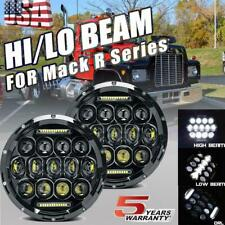 DOT 7'' Inch Round LED Headlights Sealed Hi/Lo Beam with DRL For Mack R Series