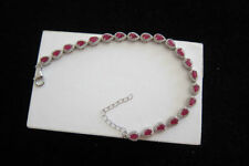 Heating Natural Ruby Sterling Silver Fine Jewellery