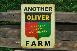 Another Oliver Farm Tin Metal Sign - Finest in Farm Machinery - Tractor - Retro