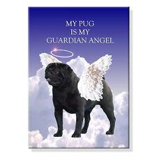 BLACK PUG Guardian Angel FRIDGE MAGNET New DOG