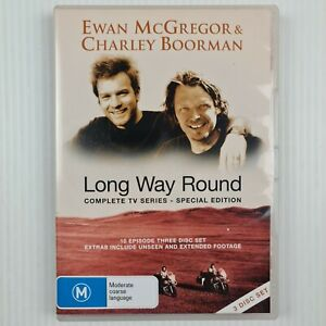 Long Way Round Complete TV Series - Special Edition 3 Disc - R ALL -TRACKED POST
