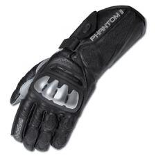 Gants noirs en cuir en cuir de kangourou pour motocyclette