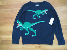 OshKosh Boys Navy Long Sleeve Sweater w/ green DINOSAURS...