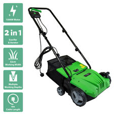 More details for charles bentley 1500w 2 in 1 electric garden scarifier & aerator lawn raker