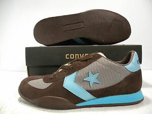 CONVERSE TARGA XLT OX 1984 RE-ISSUE TRAINERS MEN SHOES BROWN/BLUE/GR SIZE 12 NEW