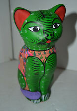Enfeo Samuel 1996 Clay Cat Figure Kitten Kitty Mexican Folk Art