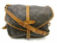 Authentic LOUIS VUITTON Monogram Saumur 30 M42256 Shoulder Bag PVC Leather 87936