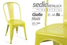SEDIA METALLICA SERIE INDUSTRIAL GIALLO MATT 51*44*86 CM TOLIX ONN-745881