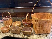 Lot of 7 Longaberger baskets