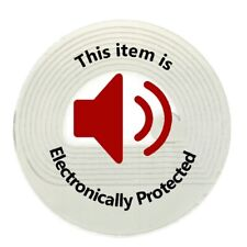 2,000 Rf 8.2Mhz Label Round Checkpoint® Compatible 30mm Size w/Red Warning Print