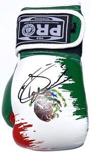 SAUL CANELO ALVAREZ SIGNED AUTOGRAPH MEXICO BOXING GLOVE PSA/DNA AUTO