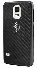 Ferrari Real Carbon Fibre Ultra Slim Hard Case Samsung Galaxy S5 Black FECBGUHCS