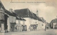 CPA  - PONTAILLER-sur-SAONE - Grande Rue face Hôtel de Ville  -  Côte-d'Or