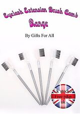 3 pcs Professional Cosmetic Duo Eyebrow Eyelash Extension Comb Brush 2 in 1 GG