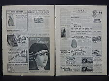 Illustrated London News Ads Two Pages c.1888 S3#2 Electric Belts, Hop Bitters