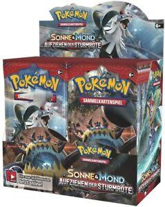 "Pokemon Sole & Luna "" Sollevare Il Sturmröte "" Booster 36er Schermo Sealed"