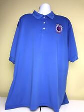 KING LOUIE Mens Solid Royal Blue Polo Size 3XL BLET DIV 294 Made In The USA