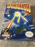 To The Earth - Nintendo NES Game - Fast Free Shipping