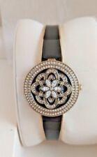 Badgley Mischka BA/1392GPCV Women's Watch Black and Gold Tone Bangle Watch