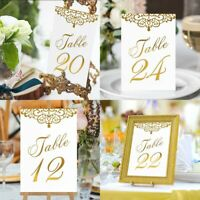 OurWarm 1/25 Double Side Paper Table Number Cards With Holder Wedding Party Deco