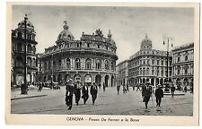 CARTOLINA GENOVA PIAZZA DE FERRARI E LA BORSA RIF. 6384