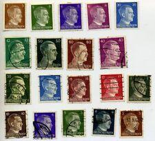 """Germany 1941-42 Deutsches Reich """"Effigy of Adolf Hitler"""" Stamps"""