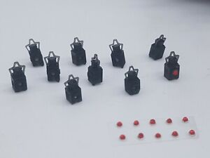 10 X O Gauge Tail Lamps Model Railway Black 007