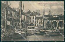 Brescia Desenzano Lago di Garda Barche RIFILATA cartolina VK0507