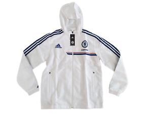 adidas FC Chelsea Anthem Jacke Größe 4 (S) -NEU- Kapuzenjacke