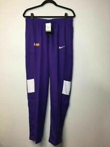 Nike Womens Dri Fit LSU Tigers CJ1805 Drawstring Purple Sideline Pants Size M