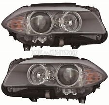BMW 5 SERIES SEDAN 2011-2013 HEADLIGHTS HEAD LIGHTS FRONT LAMPS PAIR