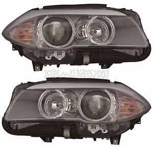 BMW 5 SERIES SEDAN 2011-2013 HEADLIGHTS HEAD LIGHTS FRONT LAMPS PAIR