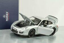 2007 PORSCHE 911 997 GT2 PLATA/LLANTAS NEGRO 1:18 Norev 187594