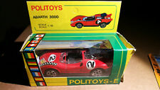 Politoys 594 Abarth 3000 red 1/43 top condition! original box and car