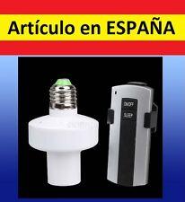 CASQUILLO Bombilla con MANDO A DISTANCIA para encender apagar E27 boton control