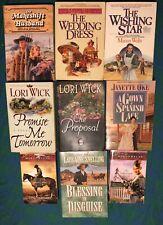 Lot Of 9 Historical Pioneer Christian Romance Novels