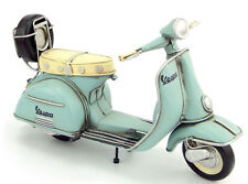 Miniature Retro Style Baby Blue Vespa Motorcycle Hand Made Toy for Blythe