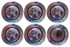 5 Euro Planet Erde 2016 blauer Ring  A/D/F/G/J KOMPLETTER SATZ, aus der Rolle
