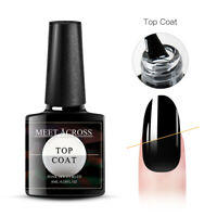 MEET ACROSS 8ML Base Coat Matte No Wipe Top Coat Soak Off UV Gel Nail Polish DIY